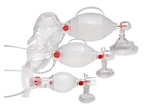 Ambu SPUR II pour adultes avec réservoir oxygène détachable pour connexion à la demande et masque taille #5