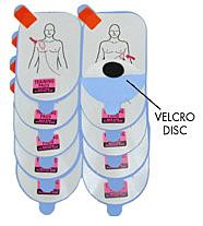 Defibtech électrodes de formation adulte de rechange (5 paires)