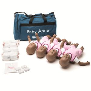 Pack de quatre Baby Anne Mannequins avec sac souple(version noire)