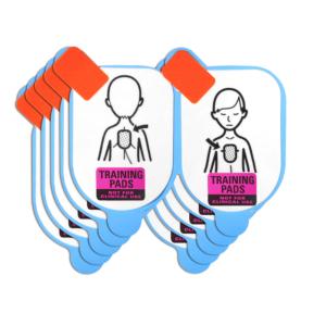 Defibtech étui avec électrodes pédiatriques pour la formation (5 paires)